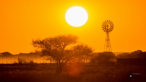 Northern Cape dusty sunset